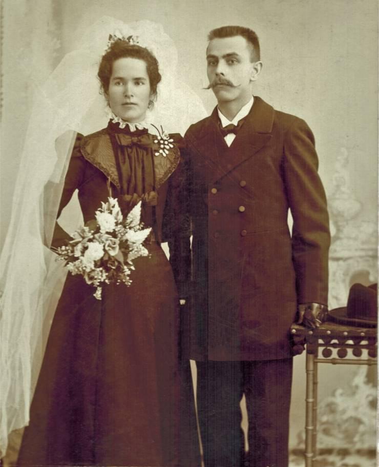 Stephanies Hochzeitsfoto von 1899.