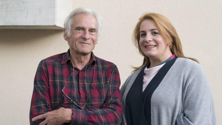 Travaglini-Kenner Peter Killer mit Theologin Eleni Kalogera, Verantwortliche für die Erwachsenenbildungsreihe.