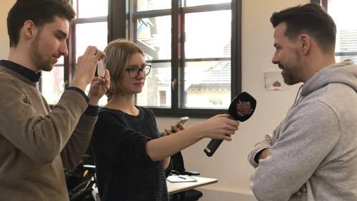 Behind the Scenes bei den YouNews-Medientagen
