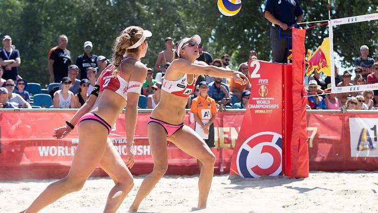 Nina Betschart und Tanja Hüberli müssen sich in Huntington Beach mit dem 13. Rang begnügen