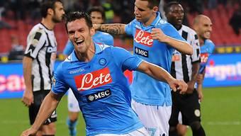 Cristian Maggio traf zum 2:0 für Napoli