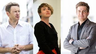 Fricker (links) legt sein Mandat nieder. Für ihn rückt Irene Kälin nach. Rechts: Daniel Hölzle, Präsident der Aargauer Grünen.