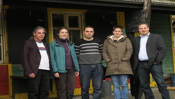 Das Team nimmt Abschied vom Standort Juppi: Bernhard Strutz, Marie Stauber, Daniel Nussbaum, Tamara Peschutter und Tobias Kull (v.l.). mh