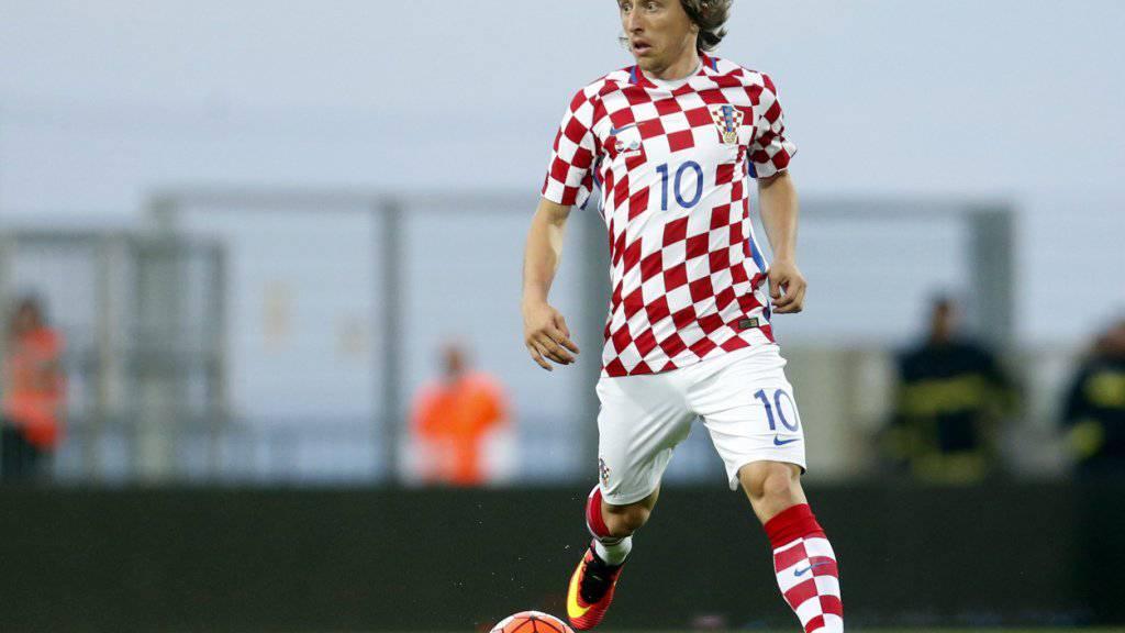Luka Modric von Real Madrid ist der Dreh- und Angelpunkt in der kroatischen Nationalmannschaft