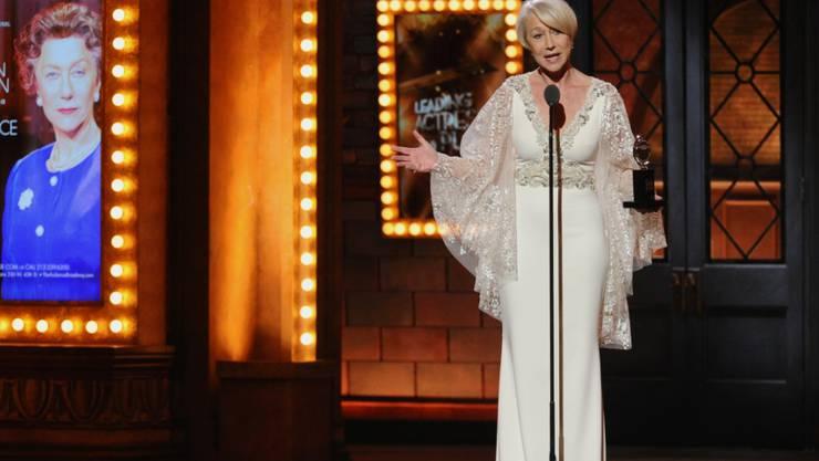 Auch auf der Theaterbühne ausgezeichnet: Helen Mirren nimmt den Tony Award entgegen
