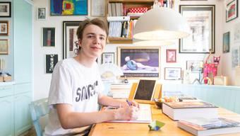 Maximilian Janisch (hier im September 2018) kurz vor Beginn seines Studiums zu Hause in Meierskappel.