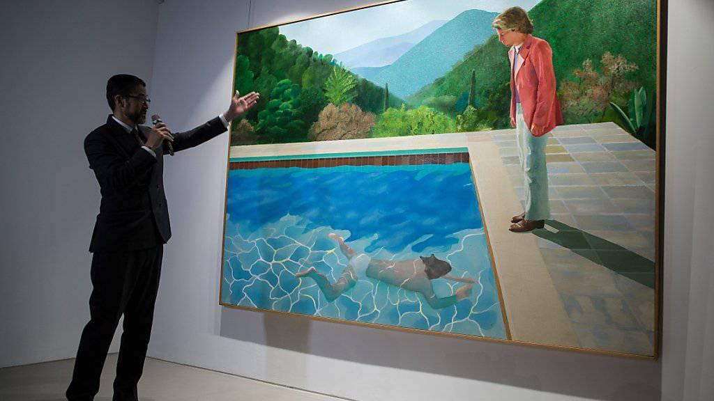 War einem Käufer bei einer Auktion in New York über 90 Millionen Dollar wert: das Bild «Porträt eines Künstlers (Pool mit zwei Figuren)» des britischen Malers David Hockney.