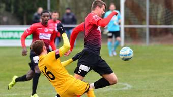 Wangens 1:0-Torschütze gegen Thun II: Cvetan Churlinov (Szene aus dem Spiel gegen Münsingen)