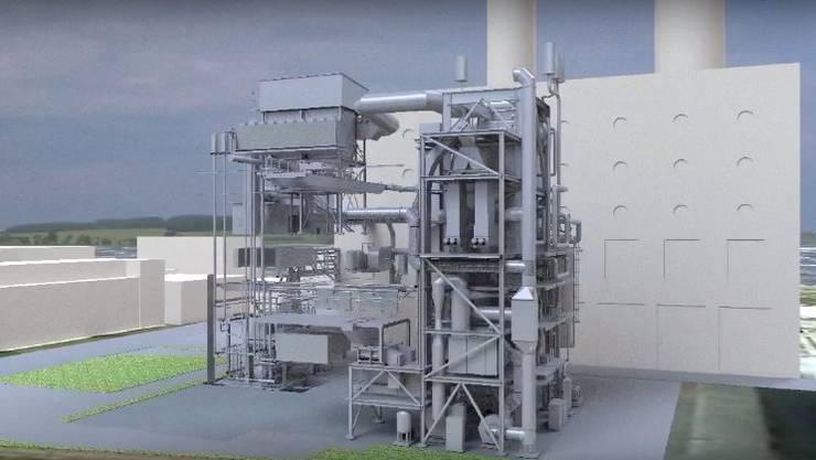 Visualisierung des zweiten Basler Holzkraftwerks