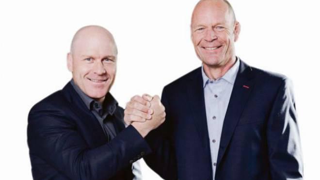 Geschäftspartner: Didier Cuche (links) und Daniel Mahrer. Foto: ho