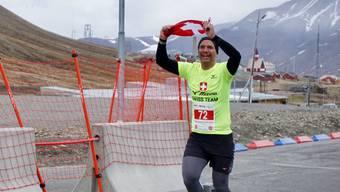 Patrik Hegelbach beim Zieleinlauf. Er war 2018 einziger Schweizer Teilnehmer.