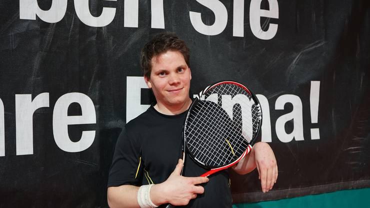 Tobias Enk fand durch Roger Federer zum Tennis.