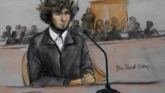 Der Attentäter Dschochar Tsarnajew hat sich bei den Opfern des Bomben-Anschlags auf den Boston Marathon entschuldigt (Archiv).