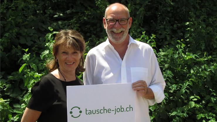 Carola Graf und Walter Dick haben ihr neues Partnerschafts-Vermittlungsangebot in Solothurn lanciert.