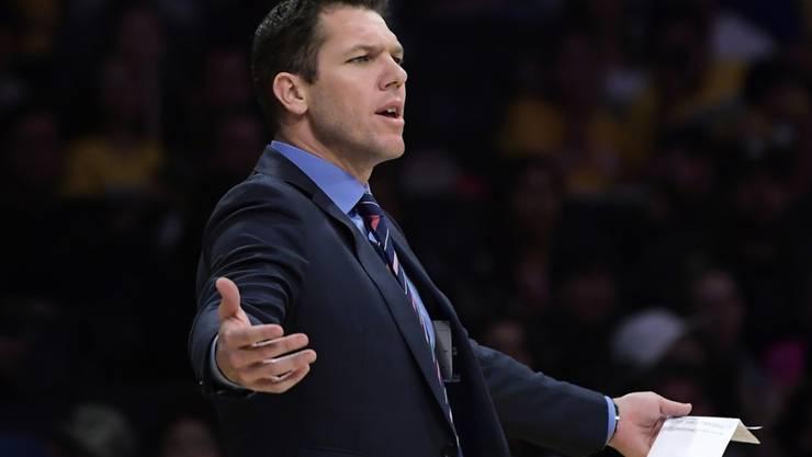 Trainer Luke Walton wurde bei den Los Angeles Lakers entlassen