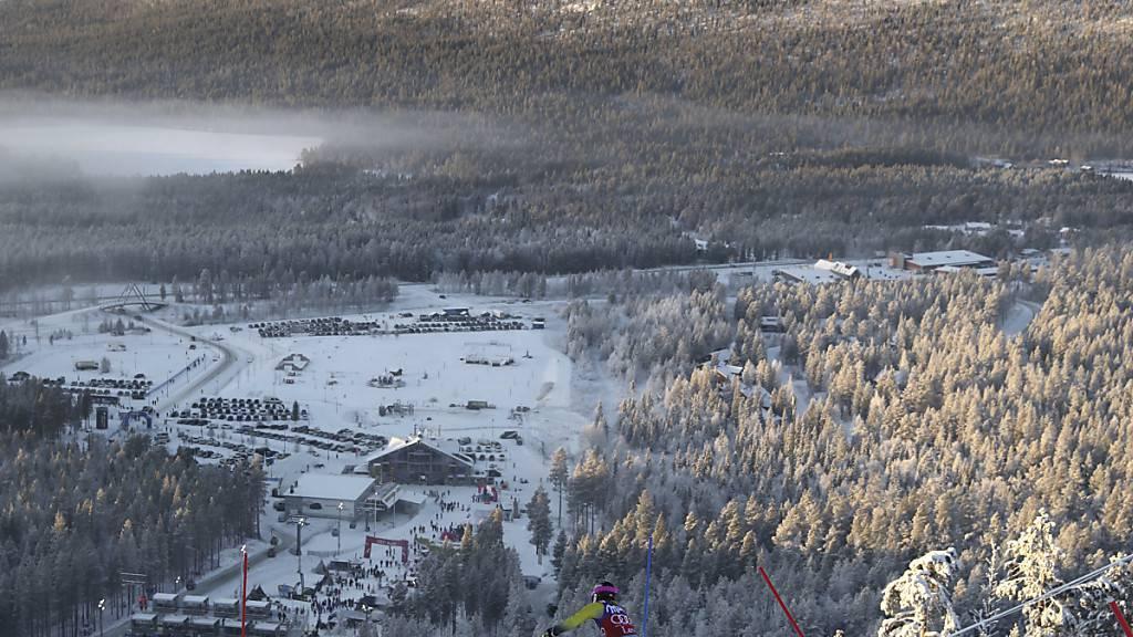 Slaloms in Levi ohne Schwedinnen