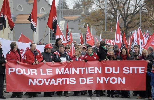 Erfolgreicher Protest: Das Novartis-Werk in Nyon bleibt geöffnet (Archiv)