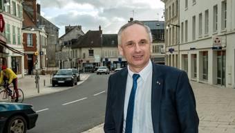 Franck Briffaut, der Bürgermeister von Villers-Cotterêts,ist «wegen der EU» Mitglied des Front National. Mit Rassismus hat er nichts am Hut.
