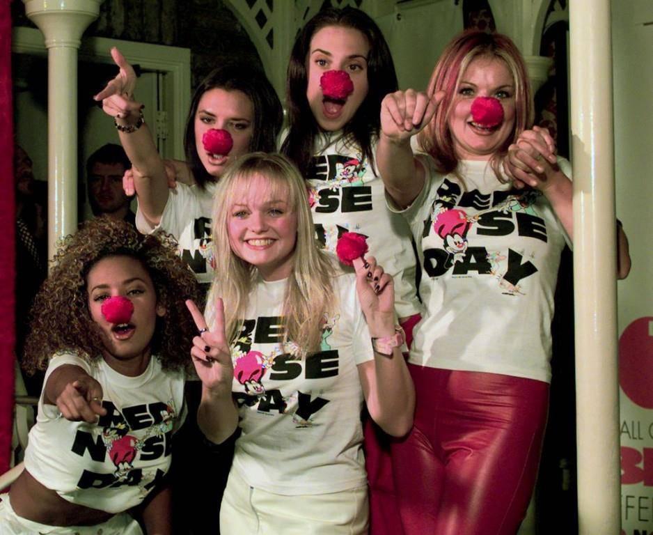 Die Spice Girls sammeln Spendengeld im Jahre 1997. (© Keystone/Lynne Sladky)