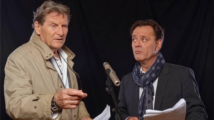 Die beiden Schauspieler Michael Schacht alias Philip Maloney und Heinz Margot. M.GILGEN