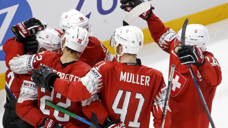 Die Schweizer Mannschaft hatte bisher in Kopenhagen viel zu jubeln