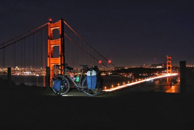 San Francisco, die Golden Gate Bridge bei Nacht