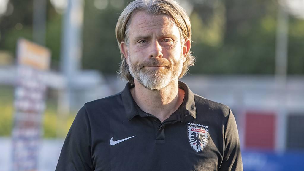 Stephan Keller kommt mit dem FC Aarau zum zweiten Sieg in dieser Saison