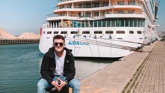 Dario Cremona (19) ist Reisespezialist Kreuzfahrten bei Knecht Reisen. Auf seinen Reisen macht er Videos und Bilder der Schiffe.