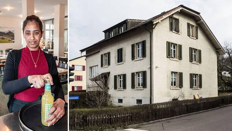 Helen Mehari arbeitet im «Gemeinsam Café» und lebt im Asylheim in Bottmingen. Das Wohnheim an der Baslerstrasse tendiert Richtung Bruchbude.