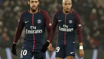 Harmonieren bei PSG bereits wieder sehr gut: Neymar (links) und Kylian Mbappé (rechts)