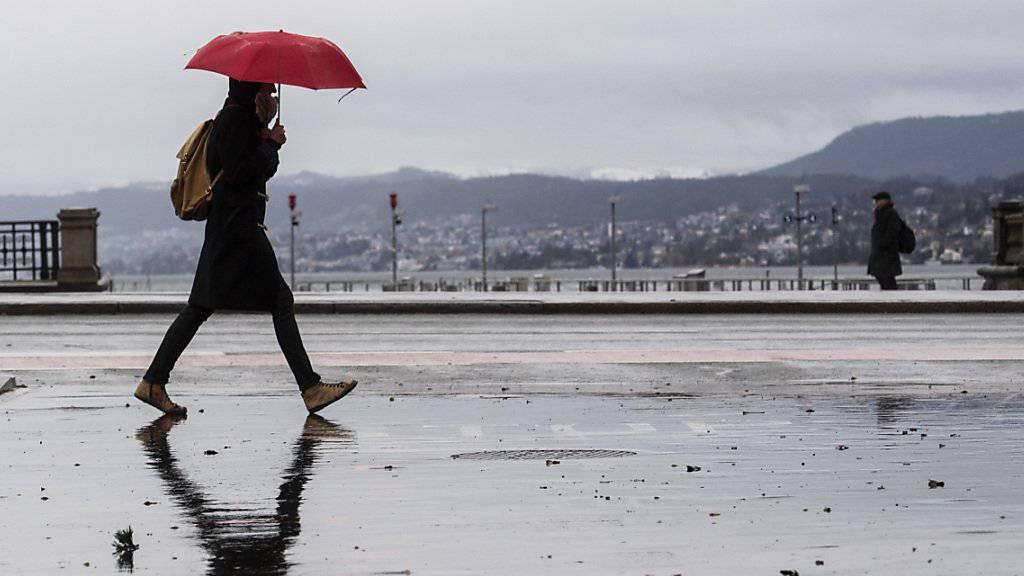 Sturmböen und starker Regen: Kaltfront überquert die Schweiz