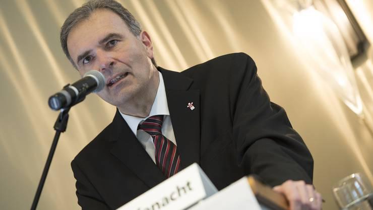 CEO Hanspeter Rüfenacht präsentierte das Ergebnis 2013 der Berner Kantonalbank.