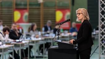 Diese Session findet in Zuchwil statt. Im Bild: Regierungsrätin Brigit Wyss im Mai 2020 im CIS in Solothurn.