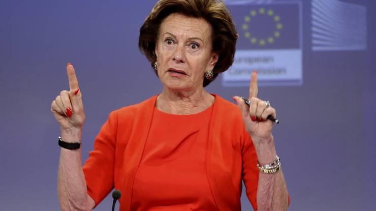 """EU-Kommission will Details wissen und hat Ex-EU-Kommissarin Neelie Kroes einen Brief mit Fragen geschickt. Denn gemäss der """"Süddeutschen Zeitung"""" soll die Niederländerin während ihrer Amtszeit als Kommissarin eine Briefkastenfirma auf den Bahamas geführt haben. (Archiv)"""