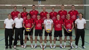 Das Team Volley Smash 05 Laufenburg-Kaisten startet diesen Samstag mit dem Heimspiel gegen Schönenwerd in die neue Spielzeit.  (Bild: Irene Knecht)