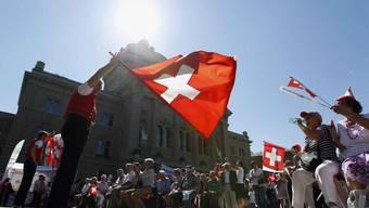 SVP-Familienfest auf dem Bundesplatz in Bern