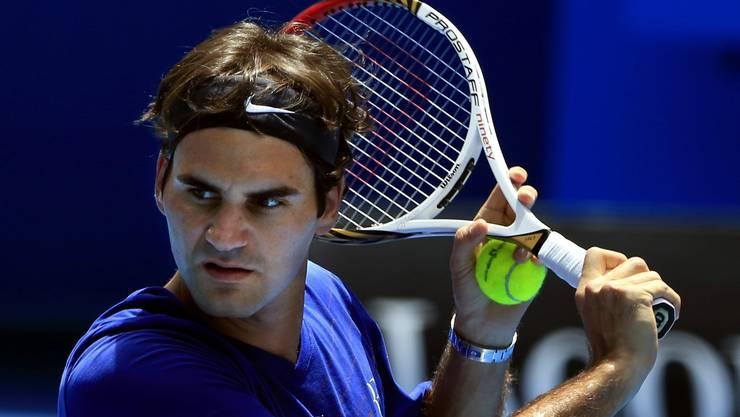 Roger Federer ist zuversichtlich vor den Australian Open.