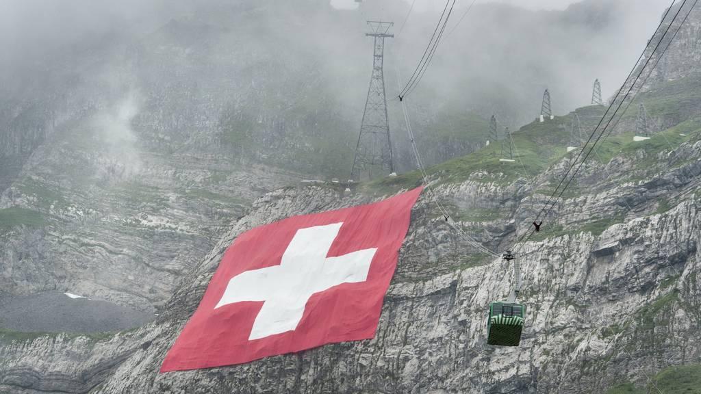 Schweizerfahne soll auch an diesem 1. August den Säntis schmücken