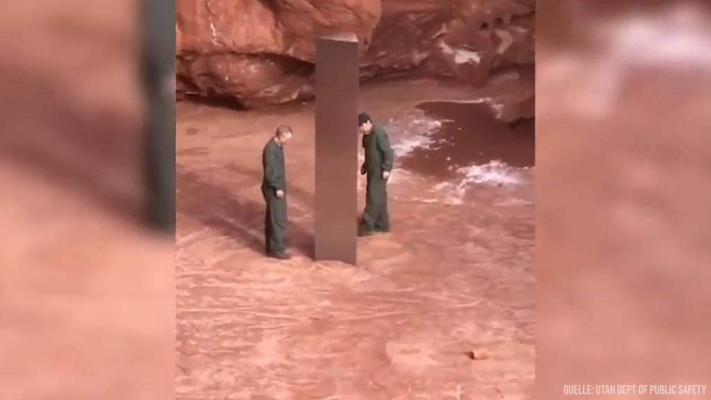 Metall-Objekt in der Wüste von Utah entdeckt