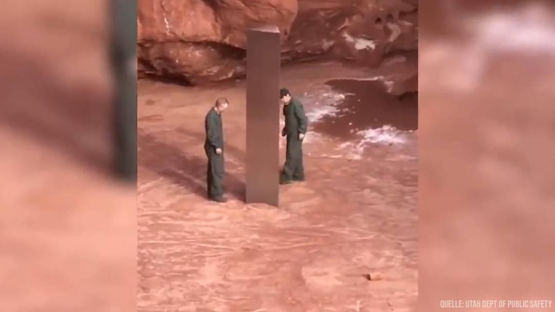 Mysteriöses Metall-Objekt in der Wüste von Utah entdeckt (18.11.2020)