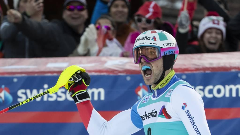 Daniel Yule steht vor dem Hattrick im Slalom