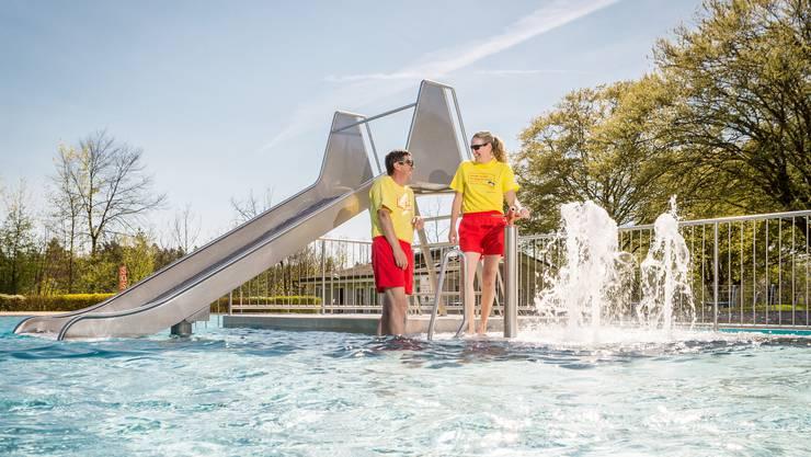 Das Wasser in Rupperwil-Auenstein war Mitte April bereits 22 Grad warm.