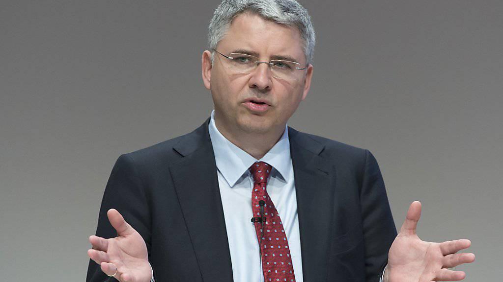 CEO Severin Schwan: «Wir sind mit den Zulassungsanträgen wichtiger neuer Medikamente auf Kurs».