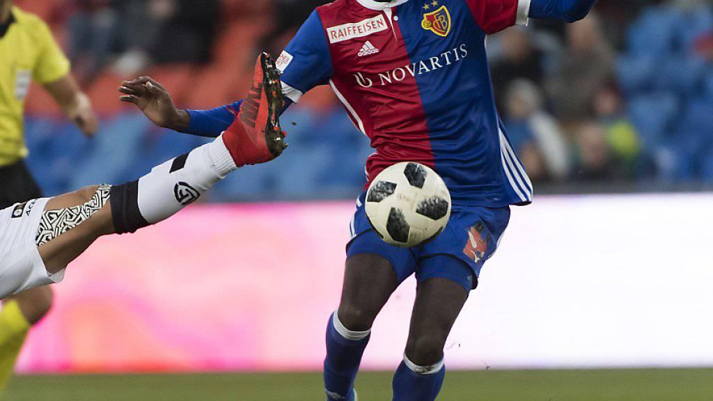 Basel-Stürmer Dimitri Oberlin erzielte in Thun sein viertes Saisongoal in der Super League