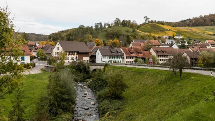 Gemeindeansicht Tegerfelden AG. Fotografiert am 24. OKtober 2019.
