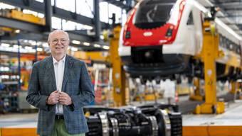 Der neue SBB-Chef Vincent Ducrot zieht am 3. Juli in Yverdon Bilanz zu seinen ersten 100 Tagen.