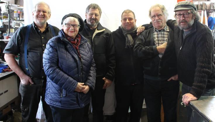v.l.n.r.: Merwin Bader, Therese Lehmann, Kurt Morgenthaler, Roger Jan Kaufmann, Roberto Wiedmer, Bärnu Anderegg (auf dem Bild fehlt: Tanja Zimmermann)