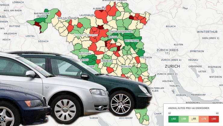 Wo es im Aargau die meisten Autos gibt: Die wahrhaftigste «Auto-Gemeinde» im «Auto-Kanton» ist Schinznach-Bad.
