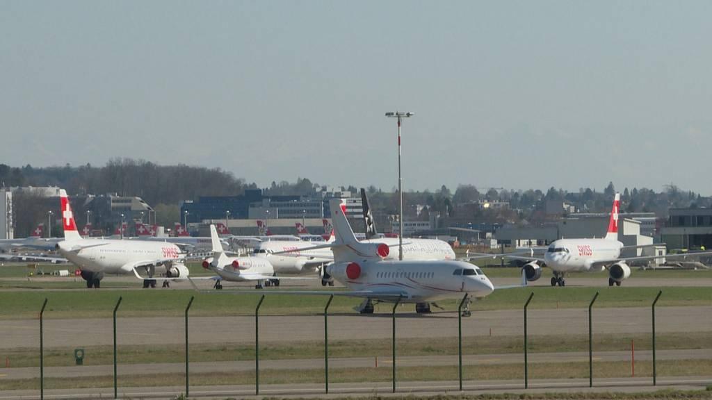 Flugbetrieb am Boden: Swiss streicht 80 Prozent der Flüge