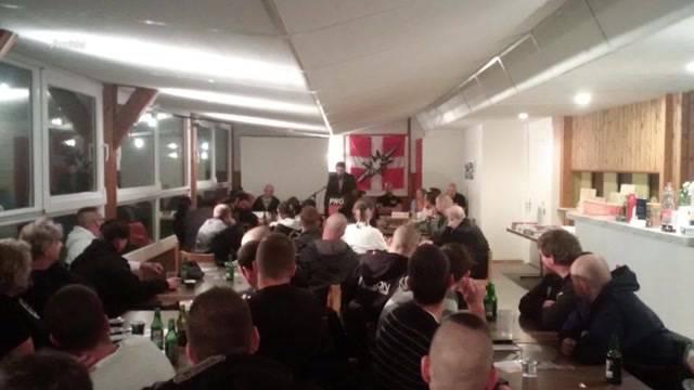 Antifa verschmiert PNOS-Schützenhaus